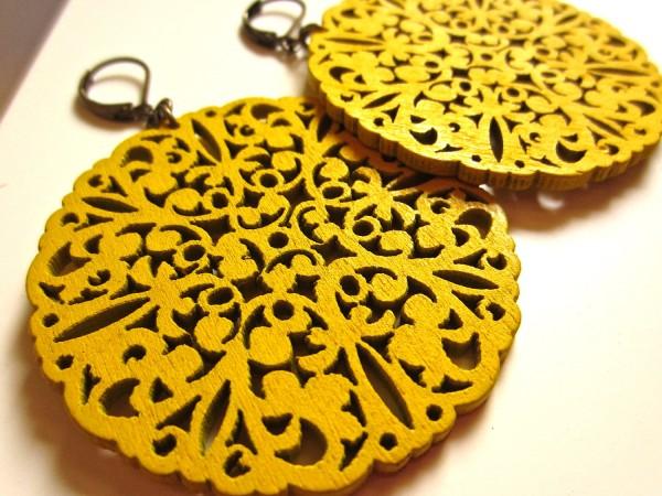 Mustard Yellow Earrings Spring Fashion