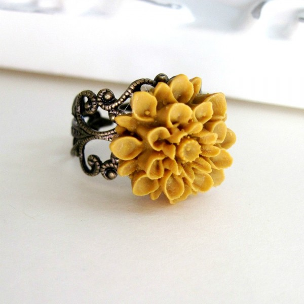 Mustard Yellow Ring Spring Fashion