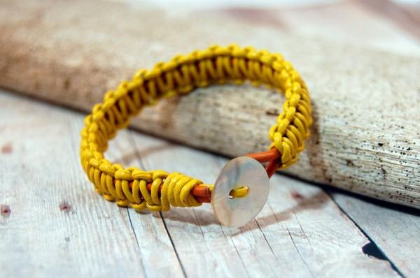 Mustard Yellow Bracelet Spring Fashion