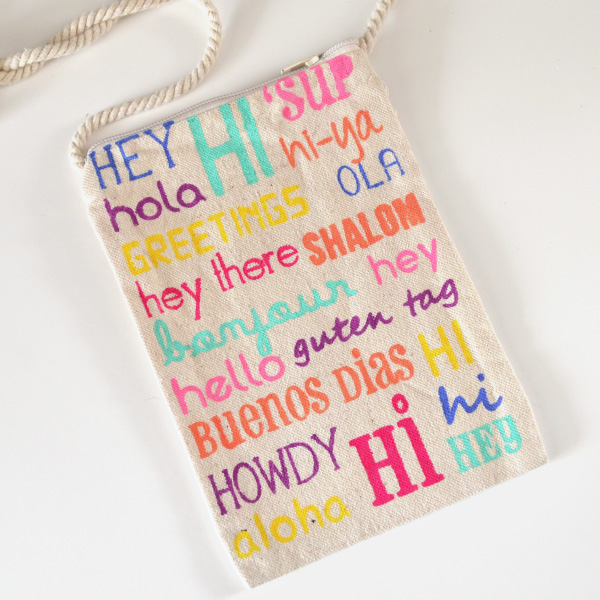 Easy Carry Canvas Crossbody Tutorial and Free Printable