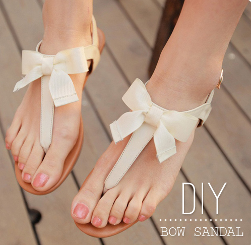 DIY Bow Sandal Makeover