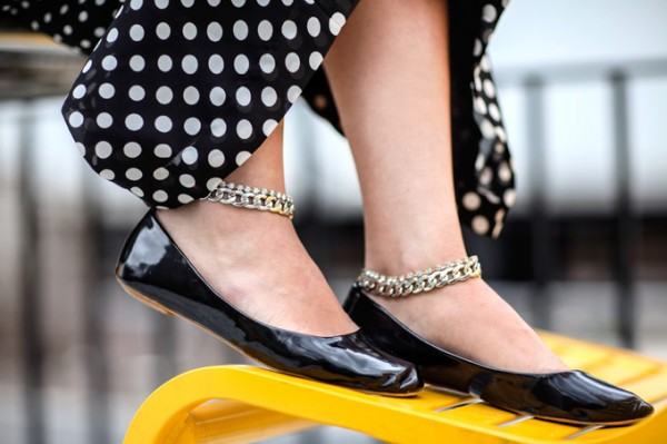 Chain Ankle Strap Flats Makeover