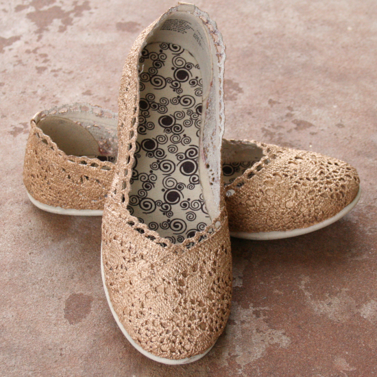 Gold Lace Flats Tutorial