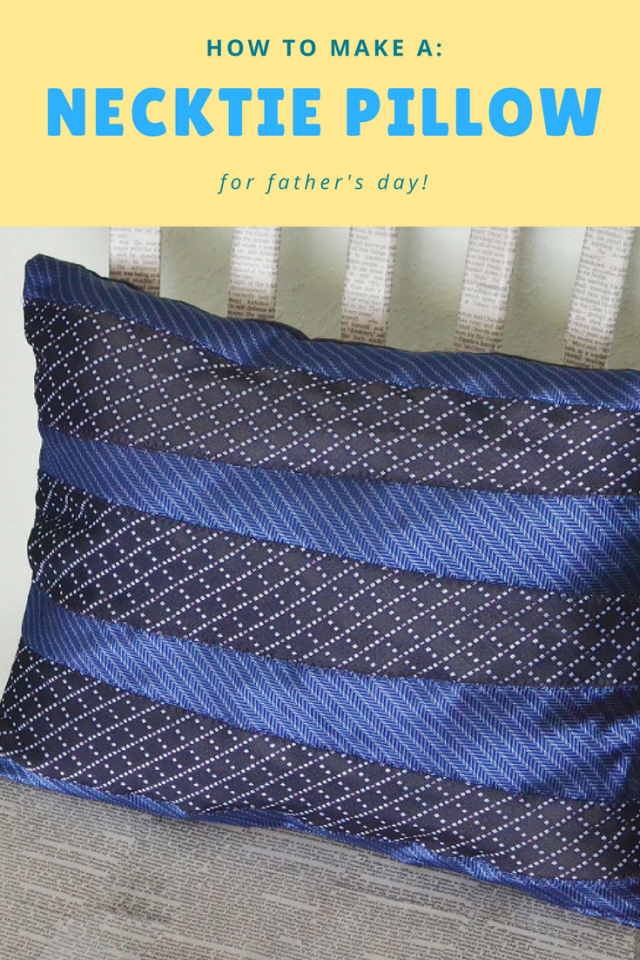 How To Make A Tie Throw Pillow : How to Make a DIY Necktie Pillow for Father s Day Gift.... : Mom Spark ? Mom Blogger - howlDb