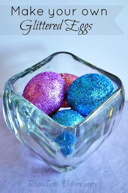 Mod Podge Glitter Eggs Craft