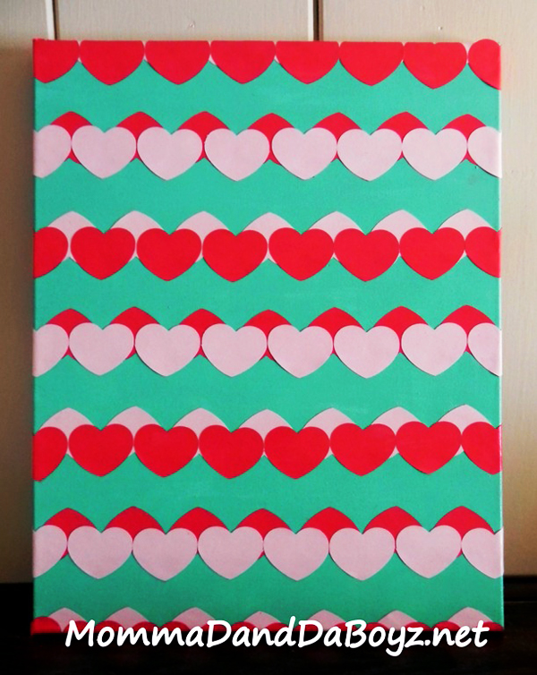 Mod Podge Heart Chevron Craft