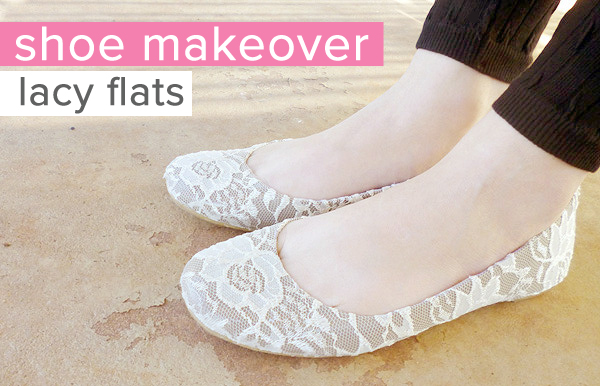 Mod Podge Lace Shoes Craft