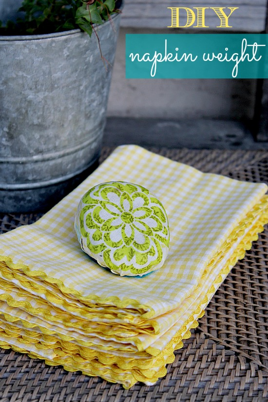 Mod Podge Napkin Weight Craft