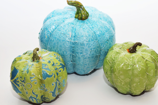 Mod Podge Pumpkins Craft