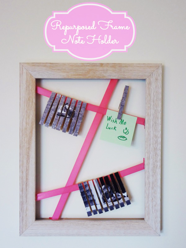 Mod Podge Repurposed-Frame-Note-Holder Craft