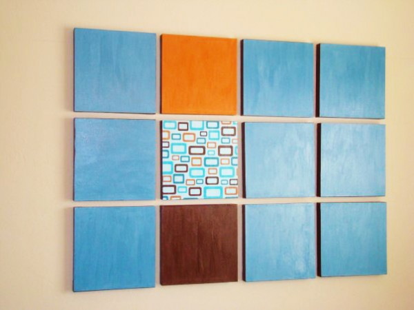 Mod Podge Wall Art Craft