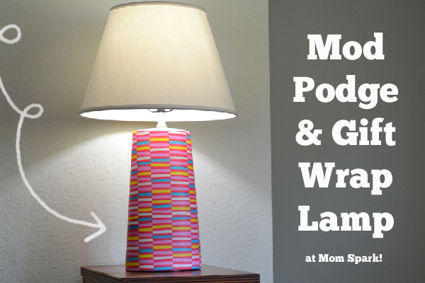 Mod Podge and Gift Wrap Lamp Craft