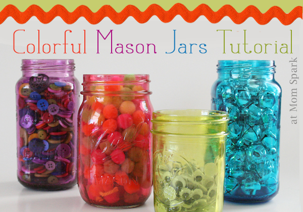 Mod Podge colorful-mason-jars-tutorial craft