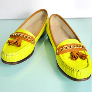 Neon Loafer Re Duex Shoe Makeover