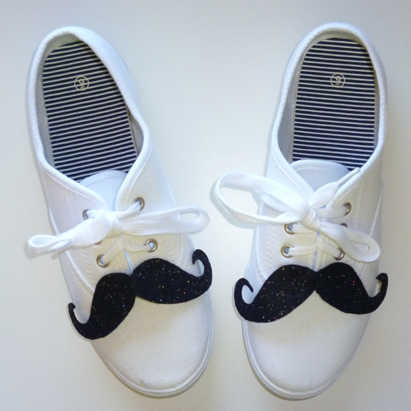 Shoestaches Moustaches for Shoes Tutorial