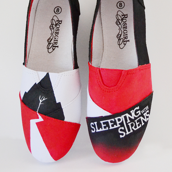 Sleeping with Sirens DIY Custom Sneakers Makeover