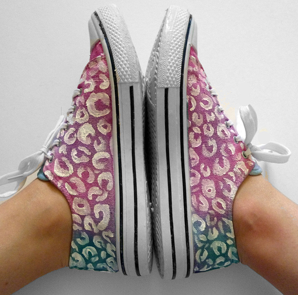 Tie Dyed Leopard Spotted Shoes Makeover