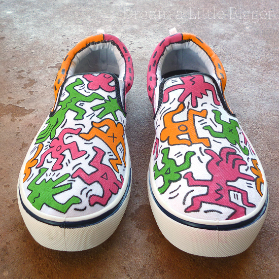 Custom Keith Haring Painted Sneakers Tutorial