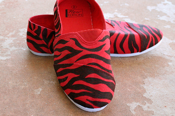 Red Zebra Classic Canvas Shoe Makeover