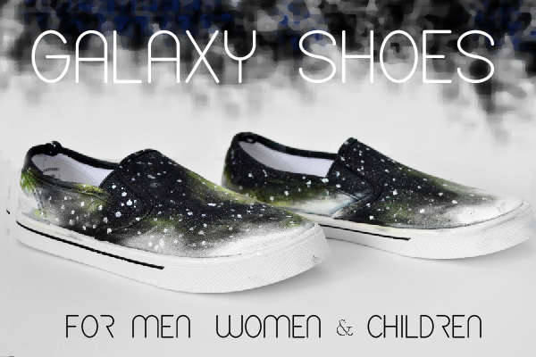 Shoe Makeover: Galaxy Shoes for Men, Women and Children Tutorial momspark.net
