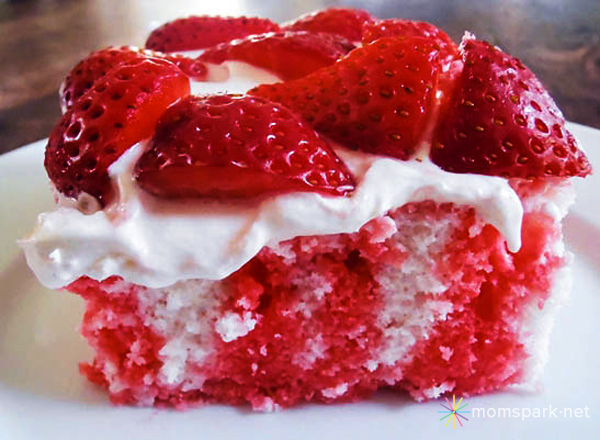 Strawberry Jello Cake Recipe Frozen Strawberries: Patriotic Strawberry Poke Cake Recipe