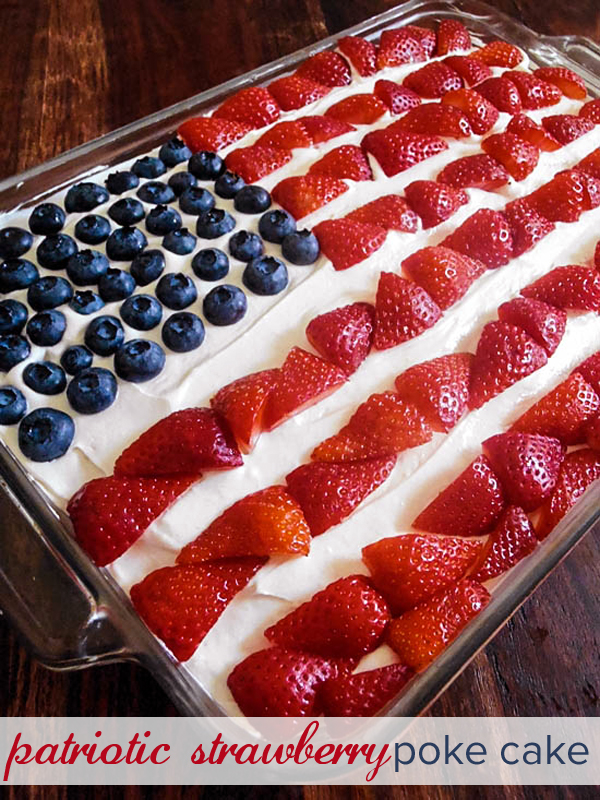 Red White Blue Poke Cake