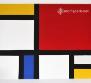 How to Make a Fake Mondrian Painting (tutorial)