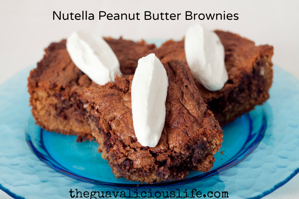 Nutella Peanut Butter Brownies Recipe