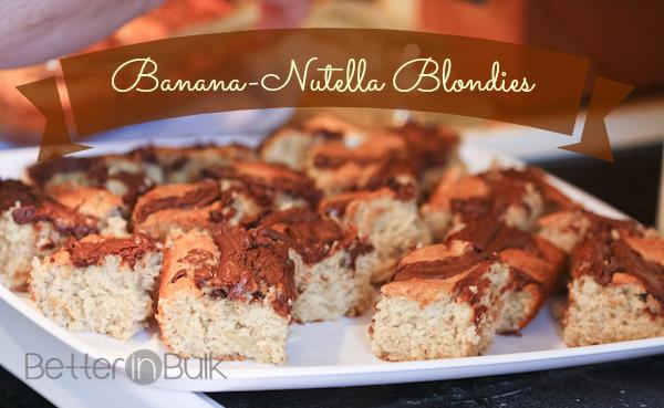 Banana Nutella Blondies Recipe