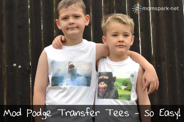 Mod Podge Transfer Tees Tutorial