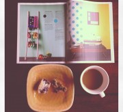 magazine muffin coffee photography