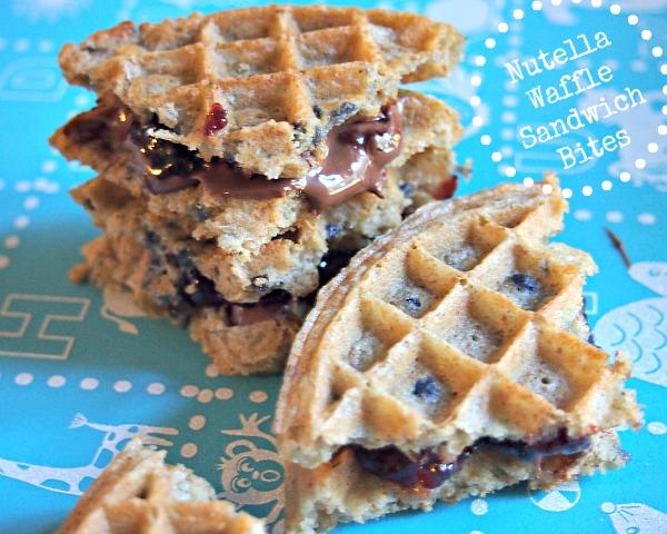Nutella Waffles Sandwich Bites Recipe