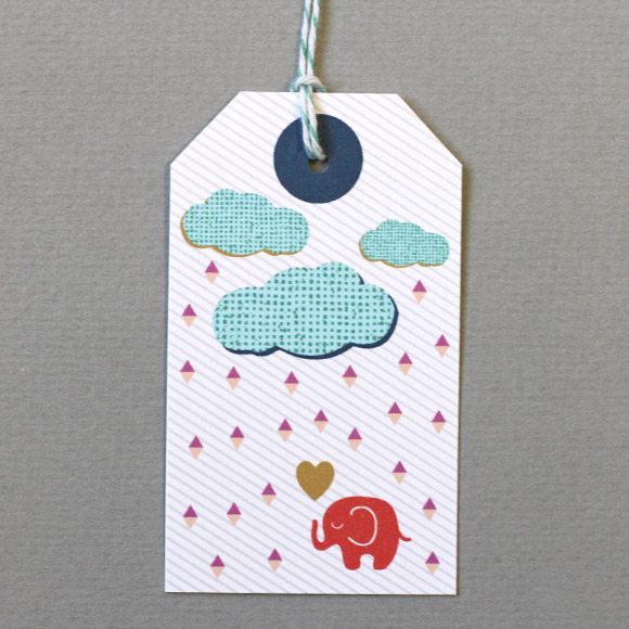 Baby Elephant Gift Tag Free Printable