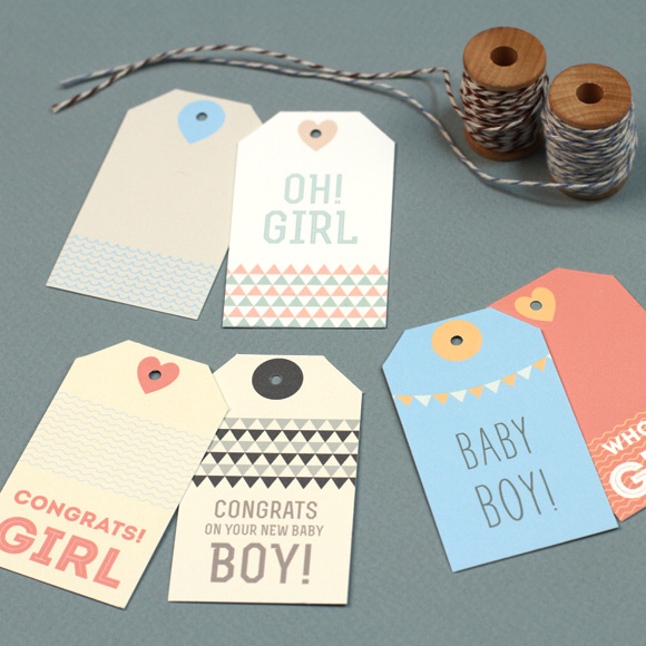 New Baby Gift Tags Free Printable