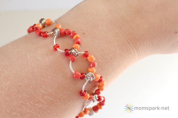 Beaded Jumbo Jump Chain Bracelet Tutorial