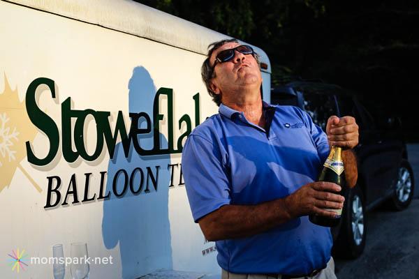 Hot Air Balloon Drink Champagne