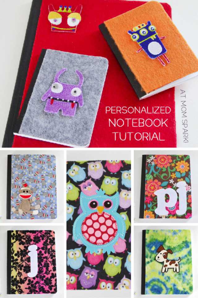 DIY Personalized Notebook Tutorial