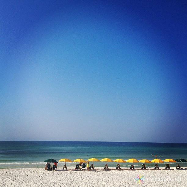 Beach with Umbrellas Instagram