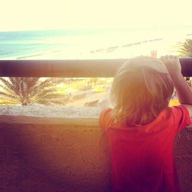 Looking over balcony Hilton Sandestin