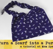 Turn a Scarf into a Purse - Tutorial