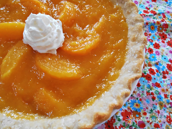 pretty peach pie