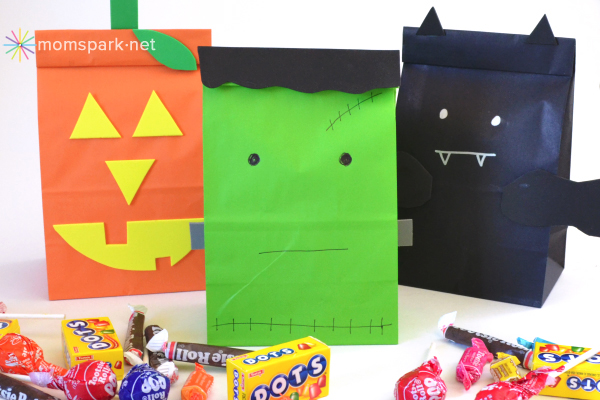 Kid DIY - Halloween Treat Bags