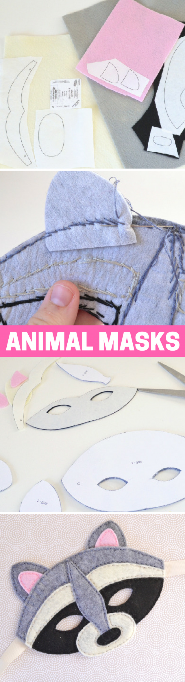 How to Make DIY Felt Animal Masks