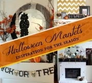 halloween mantel inspiration