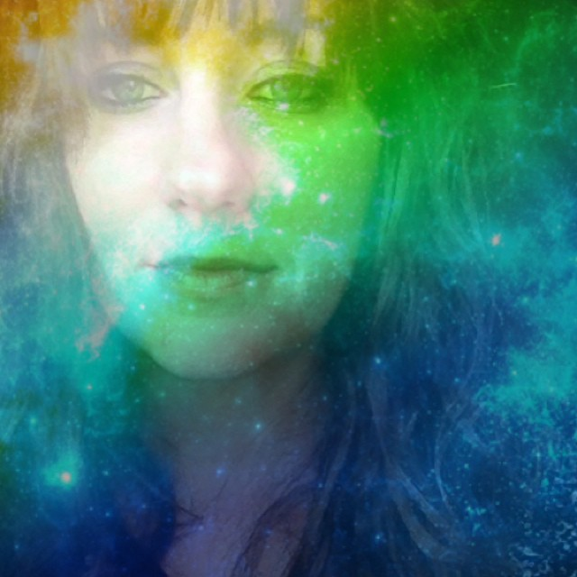 Rainbow Color Portrait Art in Space
