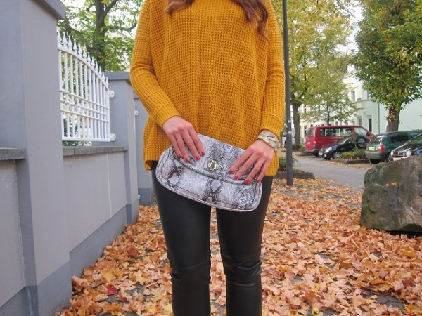 mustard fall sweater
