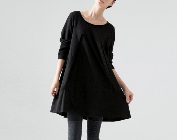oversized black dress