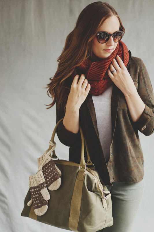 brown scarf for fall