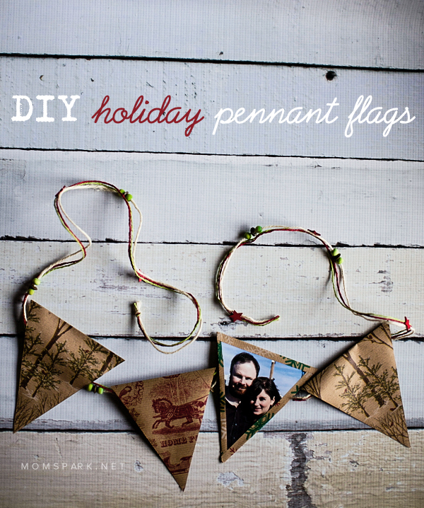 DIY Holiday Pennant Flags