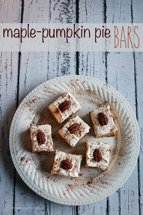 maple pumpkin pie bars